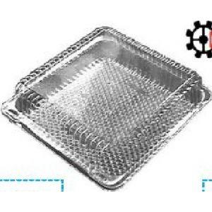 Envase Cuadrado con tapa bisagra (PET) - Q220.80   -  300 Unidades