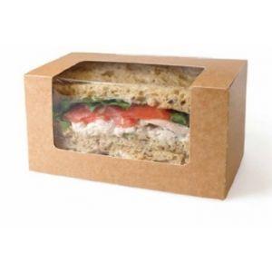 Estuche Kraft  para Bloomer  - Handrap para Sandwiches / Wraps - 500 Unidades