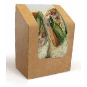 Estuche Kraft Simple para Sandwiches / Wraps  - Handrap para Sandwiches / Wraps - 700 Unidades