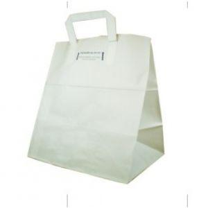 Bolsa de papel estilo americana Blanca con asas exteriores - 22 x 12 x 30 -   250  Unidades