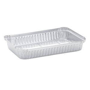 Envase de aluminio rectangular Gastronorm 1/1.  8374 c.c.- 52,7 x 32,5 x 6,7 cm - 50 Unidades