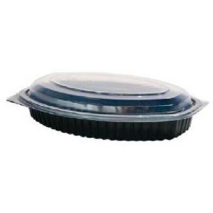 Envase Ovalado  Negro  M7100 - 500 c.c   - Gama Negra PP con tapas separadas - MANI -  200 Unidades