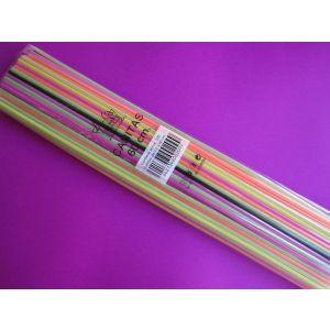 Cañitas / Pajitas de plástico para Granizados Extra-Largas - 6 mm x 60cm - Caja de 5000 unidades