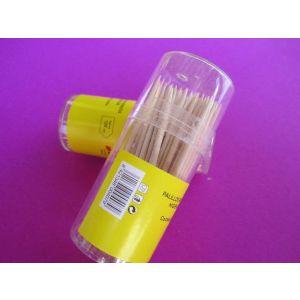 Palillero de plástico con 120 Palillos redondos - 360 unidades