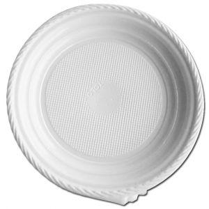 Platos de plástico blanco 22 cm - 1400 unidades