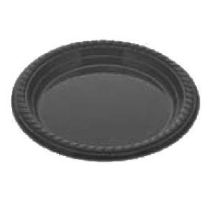 Platos de plástico Negro 26 cm Premium - 500 unidades