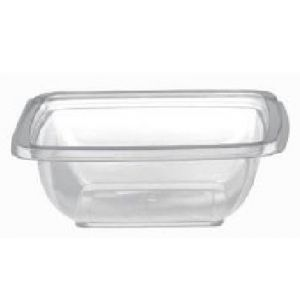 Envase Cuadrados Transparentes  con tapa separada (PET)  -  MANI   - 250  c.c.   -  400 Unidades