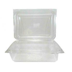 Envase rectangular con tapa  ECO de PET - Rectangular Family   - 125  c.c.   -  600 Unidades