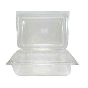 Envase rectangular con tapa  ECO de PET - Rectangular Family   - 750  c.c.   -  900 Unidades