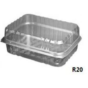 Envase Rectangular con tapa bisagra (PET) - R205.55   -  420 Unidades