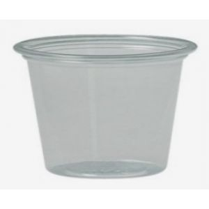 Tarrina de Traslucida Negra  de Poliestileno Inyectado Soufflé Cups de SOLOCUP - 4 oz. 118 ml  - 2500 Unidades