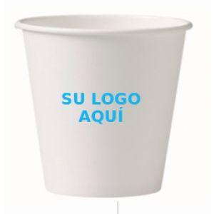 Vaso de Carton de pared Gruesa BLANCO -  8 X 9,4 - 8 oz. 250 cc 1000 Unidades