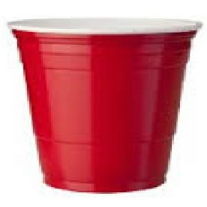 Vaso de Plastico P.S.   en color Rojo - interior Blanco - Diseño Party  - 9,21  X 10,623  12 oz. 355  c.c - 1000 unidades