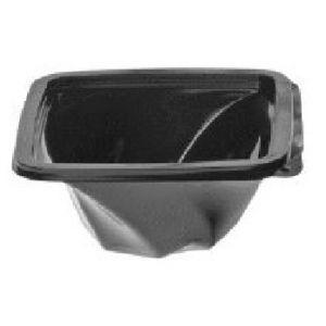 Envase Cuadrados TWIRL Negro  con tapa separada (PET)  -  MANI   - 250  c.c.   -  400 Unidades